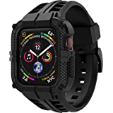 T-ENGINE Band Compatible with Apple Watch Band 44mm Series 4 Series 6/5/SE, TPU Rugged Sports Band with Full Protection Case