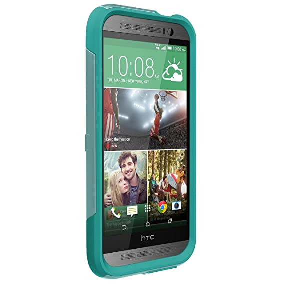 size 40 31104 f146e OtterBox Commuter Case for HTC One M8 - Retail Packaging - Aqua Sky  (Discontinued by Manufacturer)