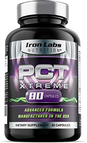 PCT Xtreme 80 Capsules Post Cycle Support Natural Testosterone Booster Advanced Formula Made