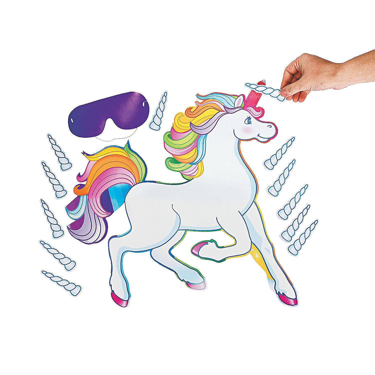 amazon com fun express pin the horn on the unicorn party game