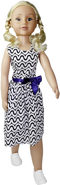 Uneeda 32 Life-Size Wispy Walker Doll Blue Bow