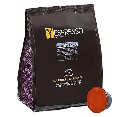 32 Cápsulas Tisana frutos rojos compatibles Nescafe Dolce Gusto
