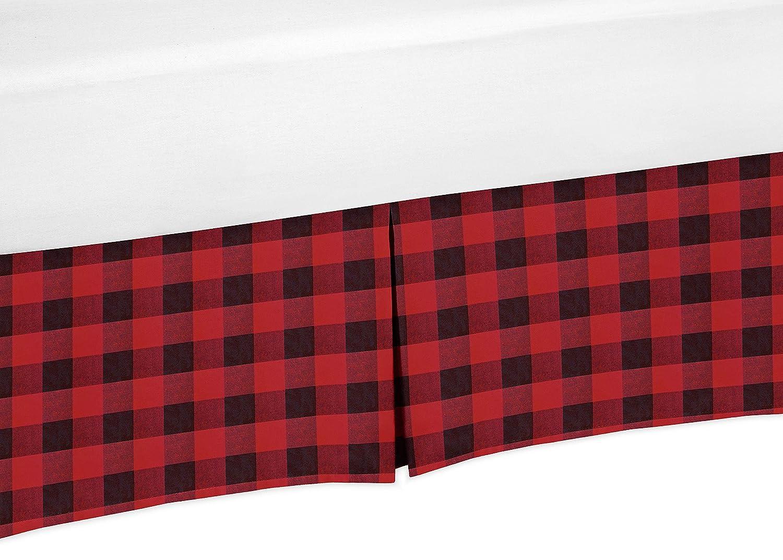 Sweet Jojo Designs Woodland Buffalo Plaid Lamp Shade Red and Black Rustic Country Lumberjack