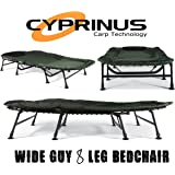 Cyprinus™ Wide Guy Double Carp Bedchair bigger than Nash Emperor! Very large will fit 2 people also ideal for camping and put me up bed or guest bed