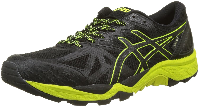 Asics Gel-Fujitrabuco 6 G-TX, Zapatillas de Running para Asfalto para Hombre 48 EU|Negro (Black/Safety Yellow/Black 9089)