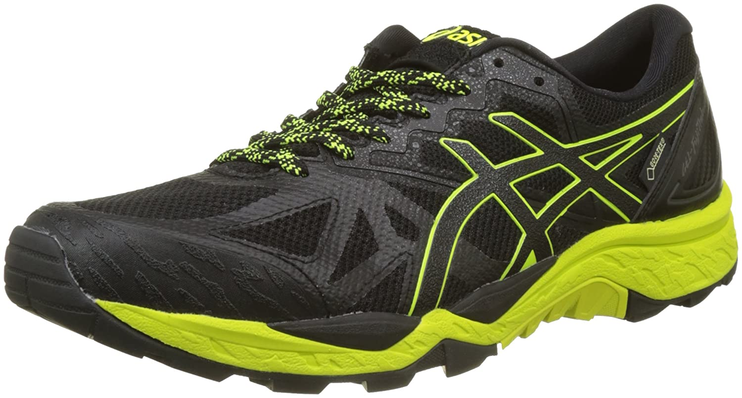 Amazon.com | Asics Gel Fuji Trabuco 6 GTX Gore-Tex Running Sport Shoes black/yellow T7F0N-9089, EU Shoe Size:42 EU | Shoes