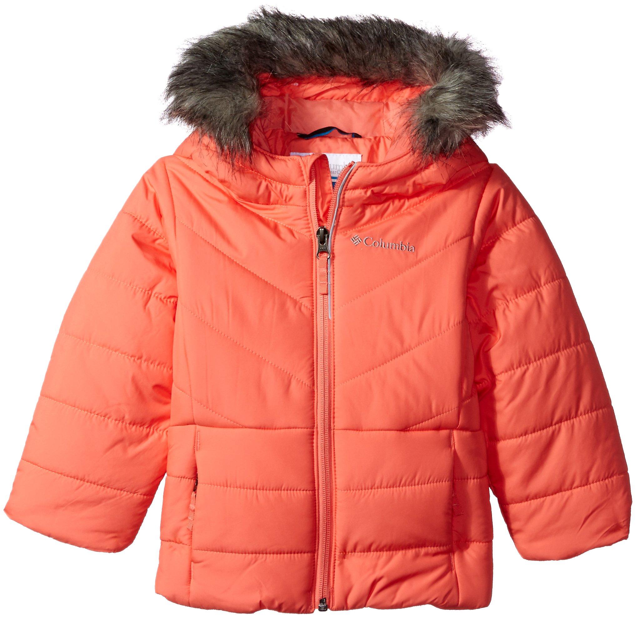 Columbia Little Girls' Katelyn Crest Jacket, Hot Coral, 4T