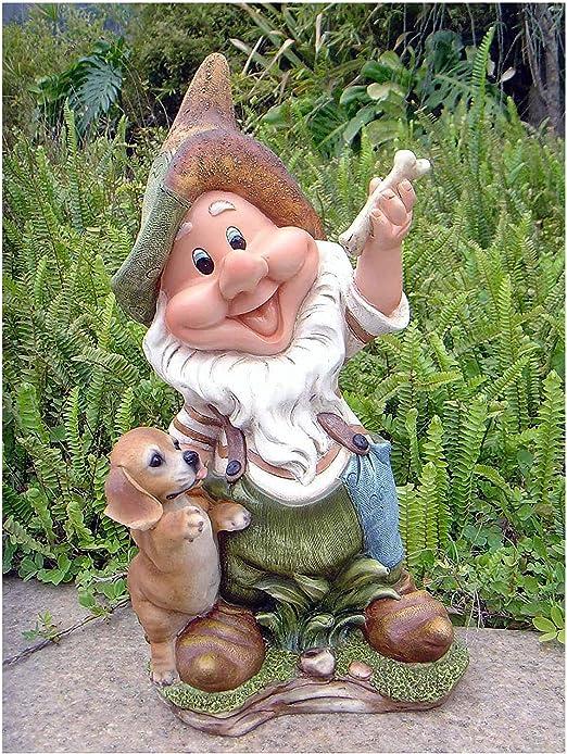 11020 Figura de enano para decorar el jardín de 41 cm de altura, varios diseños, 11020 - Diseño 4: Amazon.es: Jardín