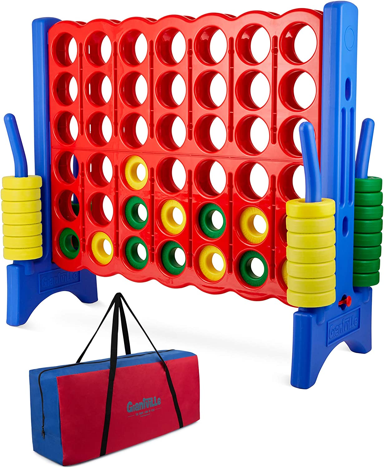 Giant 4 in a Row Connect Game – 4 Feet Wide by 3.5 Feet Tall