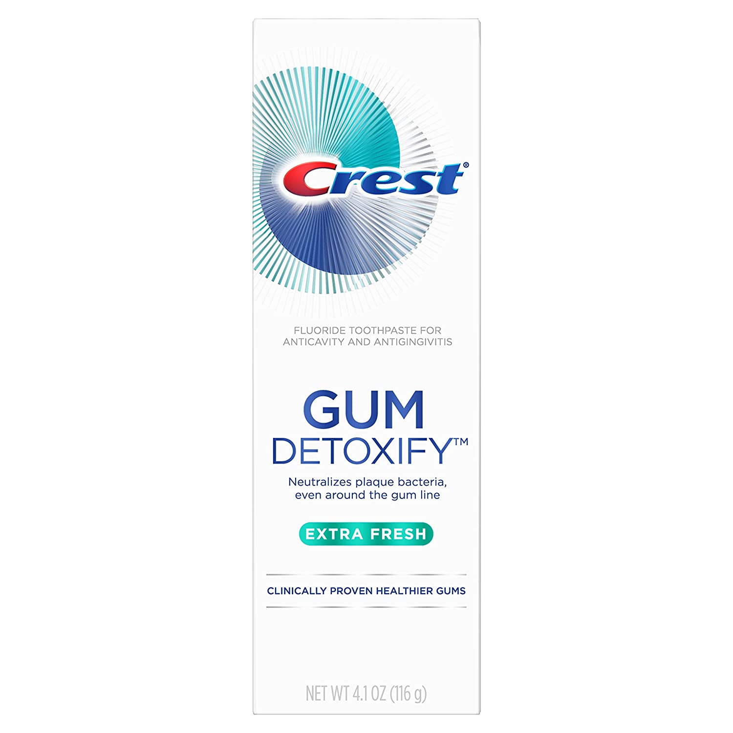 Crest Gum Detoxify Toothpaste, Extra Fresh, 4.1 Ounce (Pack of 12)