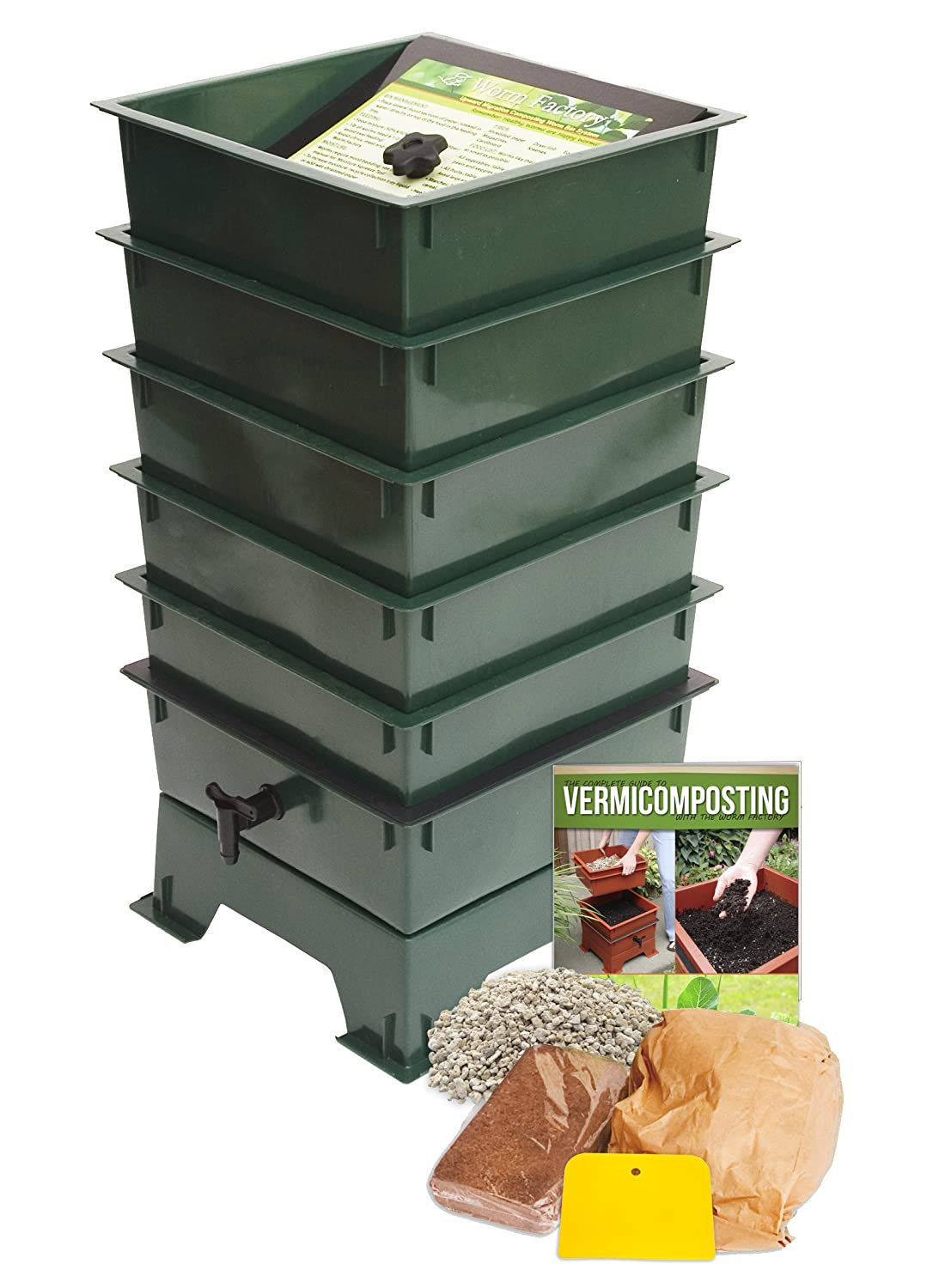 Worm Factory DS5GT 5-Tray Worm Composter, Green Cascade Manufacturing Sales Inc. DS5GTray