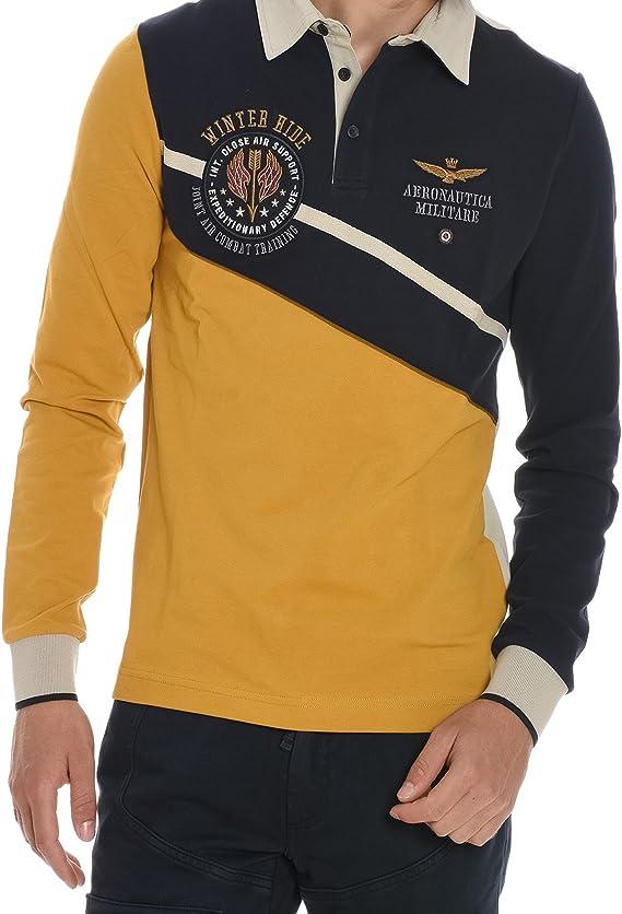 Aeronautica Militare Polo - Para Hombre Amarillo Amarillo Talla de ...