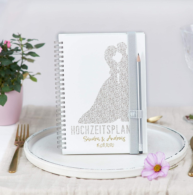 Hochzeitsplaner Deutsch Wedding Planer Personalisiert Traumpaar