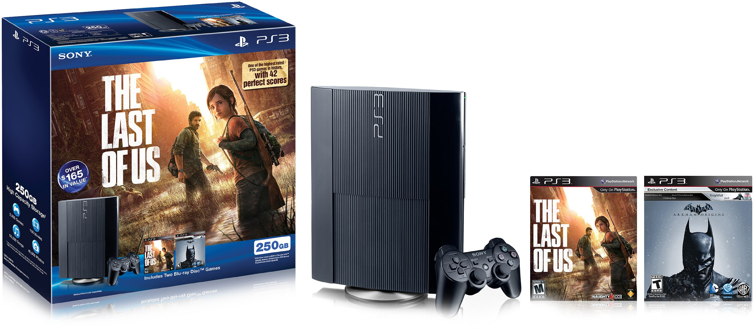 PlayStation 3 The Last of Us & Batman: Arkham Origins Bundle by Sony