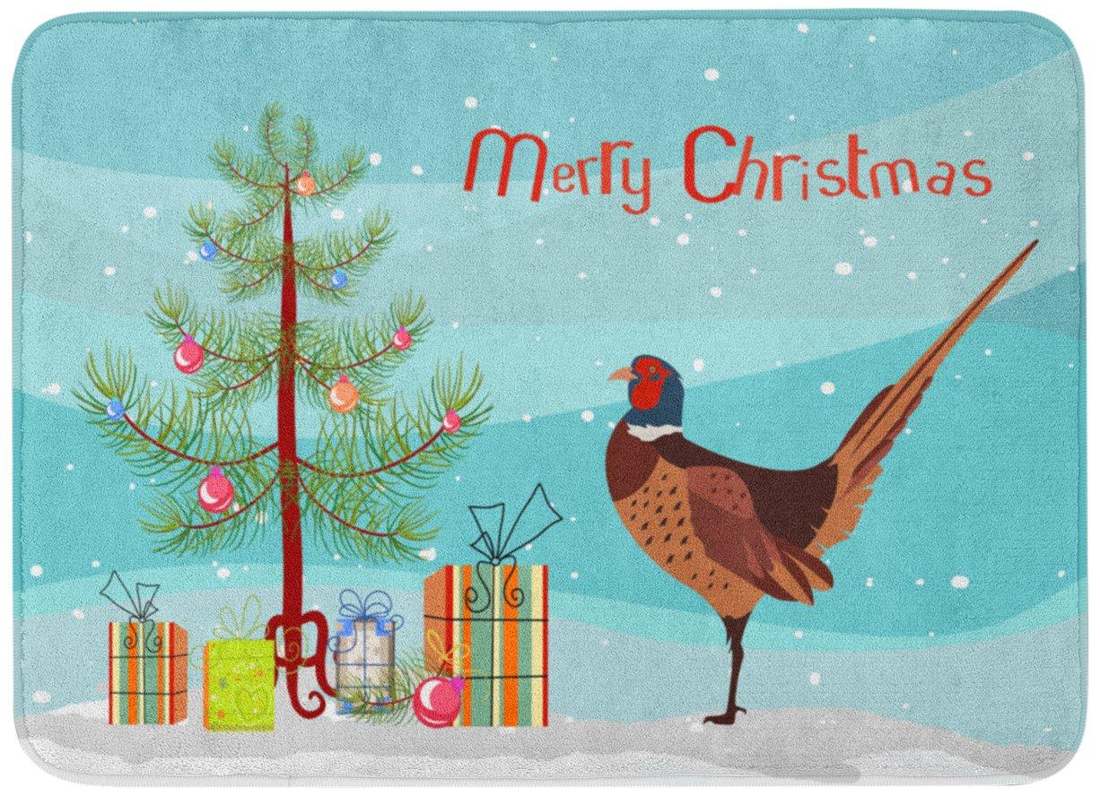 Carolines TreasuresRing-Necked Common Pheasant Christmas Floor Mat 19 x 27 Multicolor