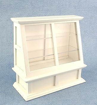 puppenhaus miniatur mobel laden geschaft passende weiss display schrank case