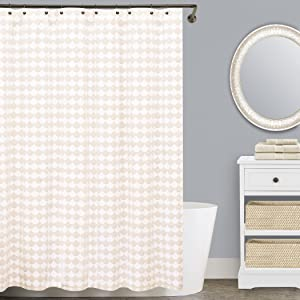 Lamont Home Finley Extra-Wide Shower Curtain, Beige
