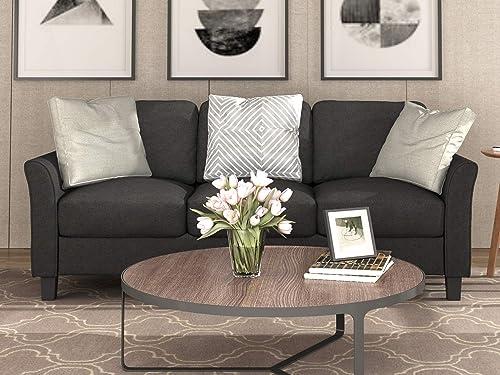 Deal of the week: Harper Bright Designs 3-Seat Sofa Living Room Linen Fabric Sofa Upholstered Sofa