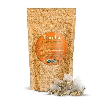 Teatulia Whole-Leaf Ginger Organic Green Tea