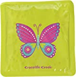 """Crocodile Creek Girls Eco Reusable Butterfly Ice Packs for Lunch Boxes (Set of 2), Green, 5"""""""