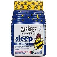 Zarbee's NaturalsChildren's Sleep with Melatonin Supplement, Natural Berry Flavored...