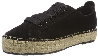 Damen Sfprim Suede Sneaker Espadrilles, Schwarz (Black), 36 EU Selected