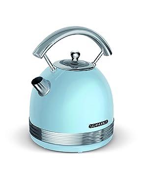 Schneider Consumer - Hervidor de Agua Redondo (Vintage) SCKE17BL - Diseño Retro, 1,7 litros, Filtro Antical, Apagado Automático, Azul