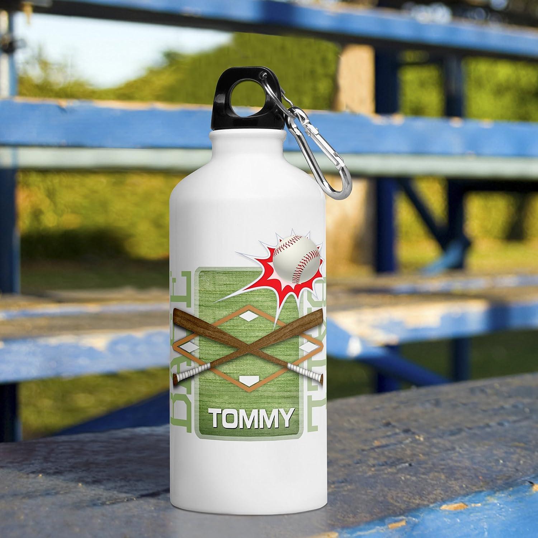 Personalized Kid 'sスポーツ水ボトル – 野球 B06XRC17K8
