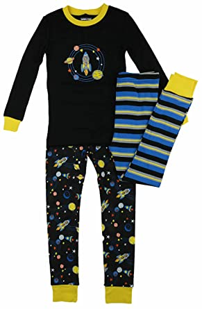 Kirkland Signature Boy s 3 Piece Mix and Match Organic Cotton Pajama Set  (7 d2b73f9e2