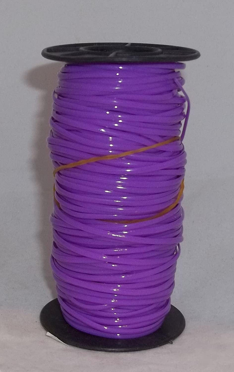 (PURPLE) 100 Yards per Roll PLASTIC CORDING Gimp Lacing Cord for Jewelry, Beads and Plaiting Crafts - 1 Roll Plastic Cord - PURPLE - RINCO 4337028552