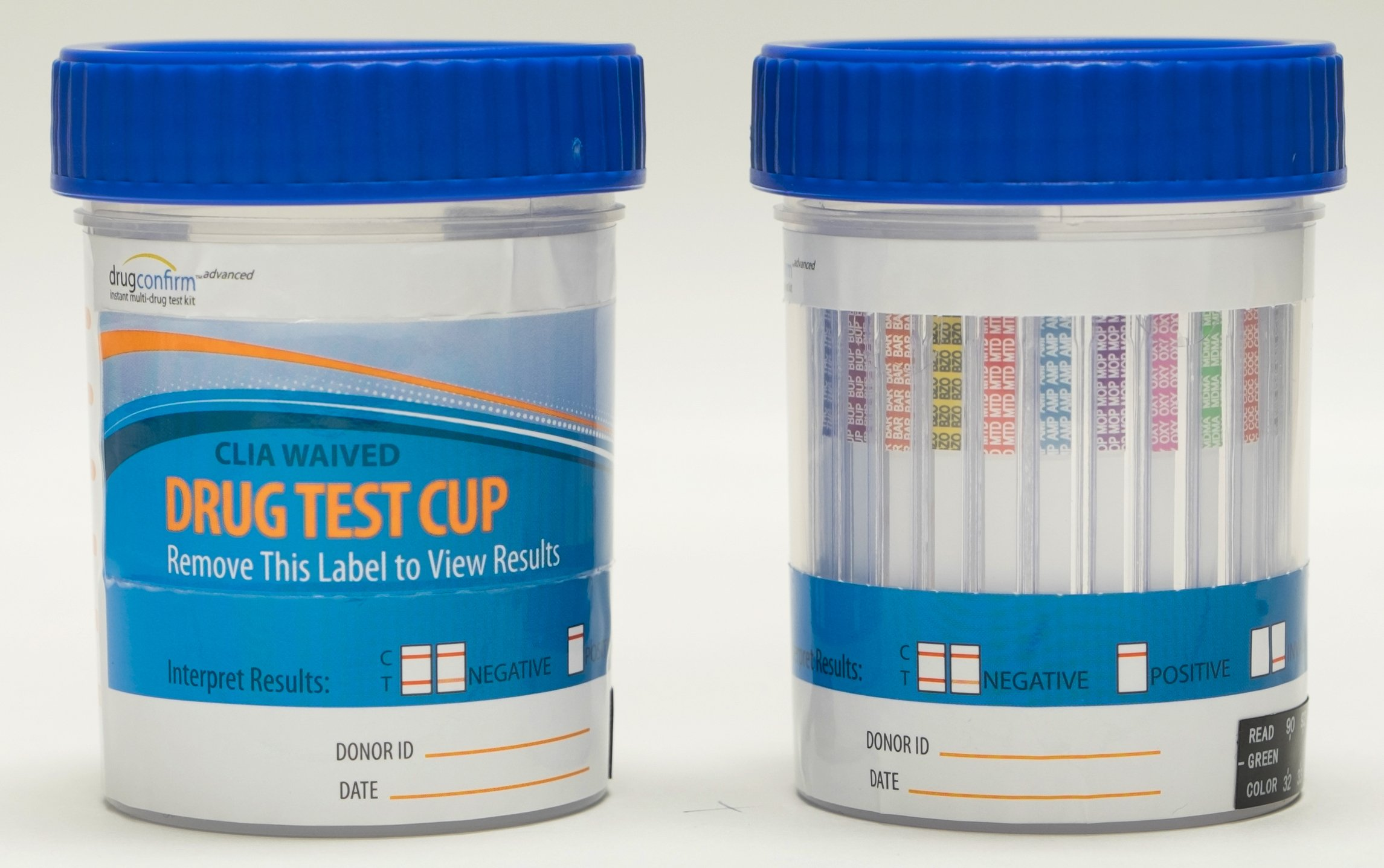 DrugConfirm Advanced 12 Drug Instant Urine Test Kit - CLIA Waived Cup (50)(AMP/COC/OXY/THC/PCP/MDMA/MOR/BZO/BAR/MTD/mAMP/BUP) (Multiple Quantities)