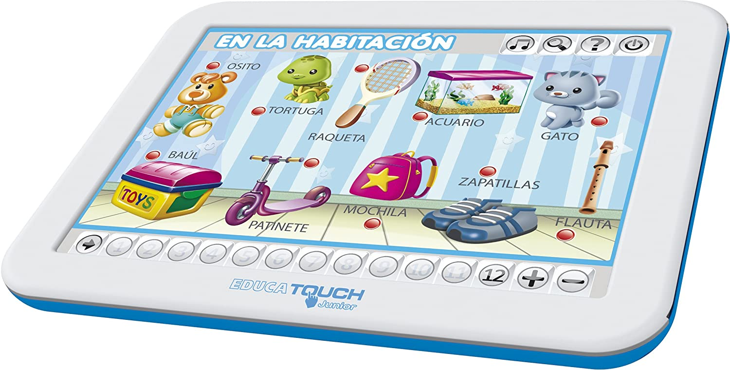 Amazon.com: Educa Borrás – Tablet Educa Touch Junior for Learning The Alphabet (Spanish): Toys & Games