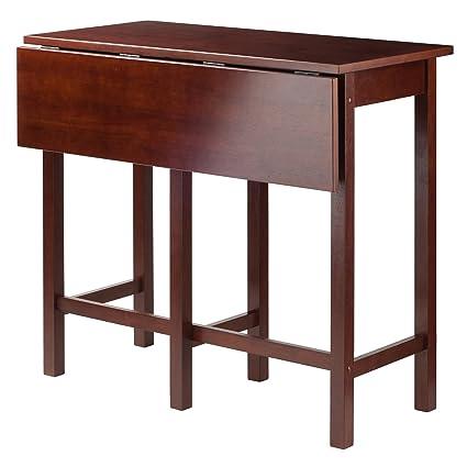 Amazon winsome wood lynnwood drop leaf high table walnut winsome wood lynnwood drop leaf high table walnut workwithnaturefo