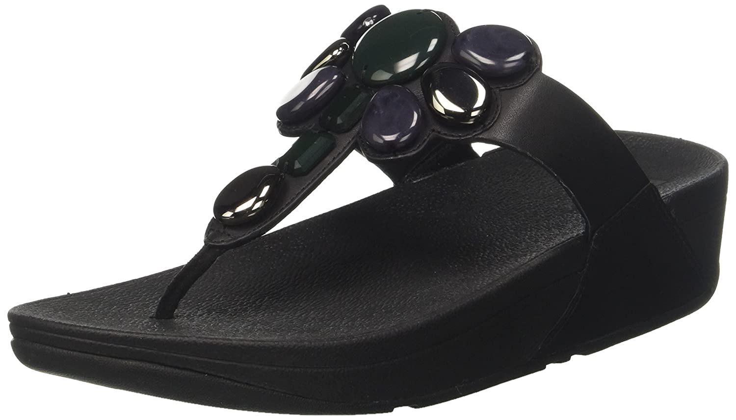 0133ab50a7d7c FitFlop Womens Honeybee Jewelled Thong Sandal Shoes