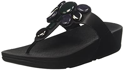 4537974cc6ece6 FitFlop Womens Honeybee Jewelled Thong Sandal Shoes