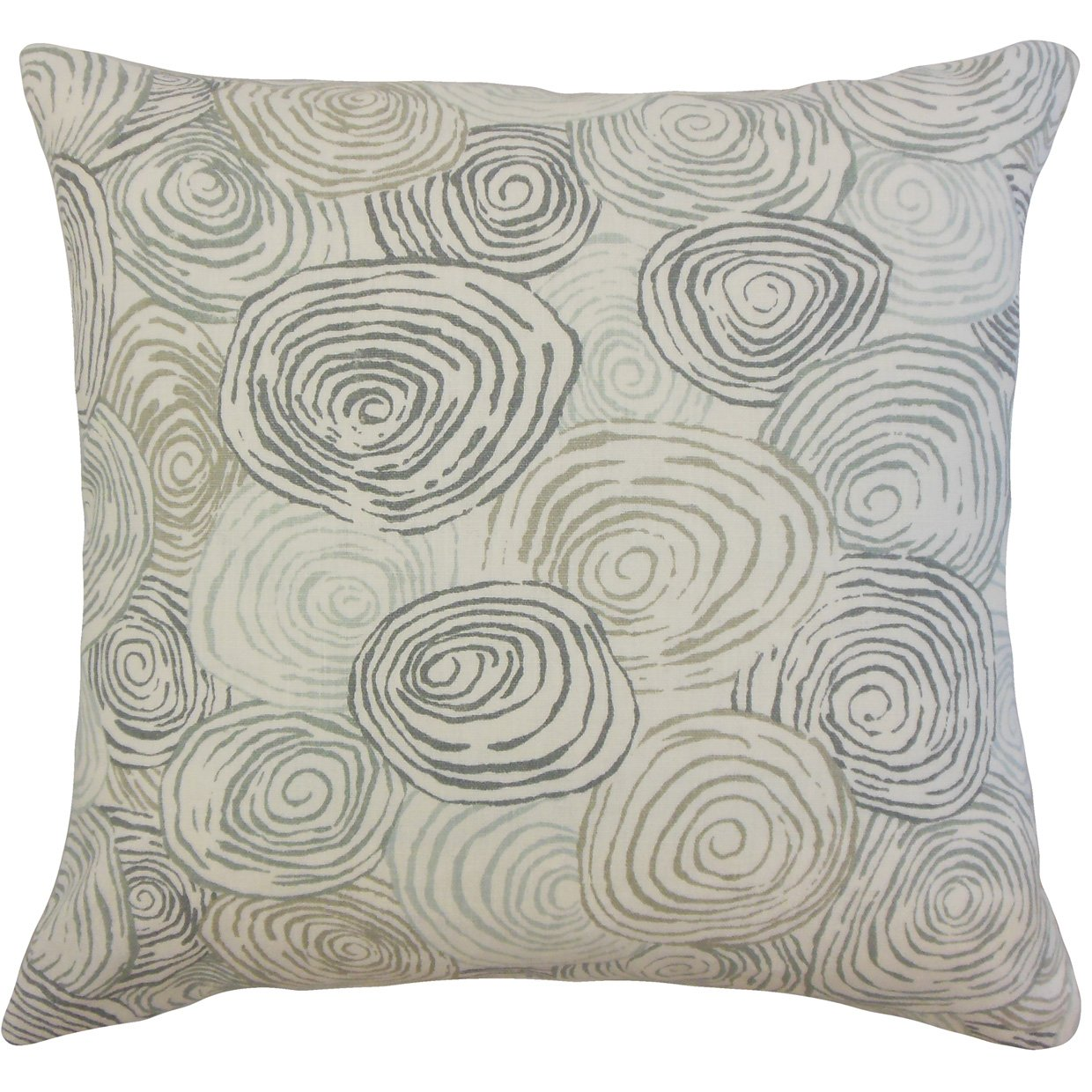 The Pillow Collection P18-PT-SPIROGYRO-MINERAL-L100 Blakesley Graphic Pillow Mineral