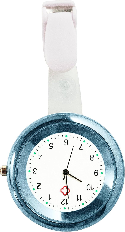 Ellemka   Enfermeras Mujeres Hombres Unisex   Analógico   De Cuarzo   Reloj Con Correa De Colgar y Clip   NS-2103