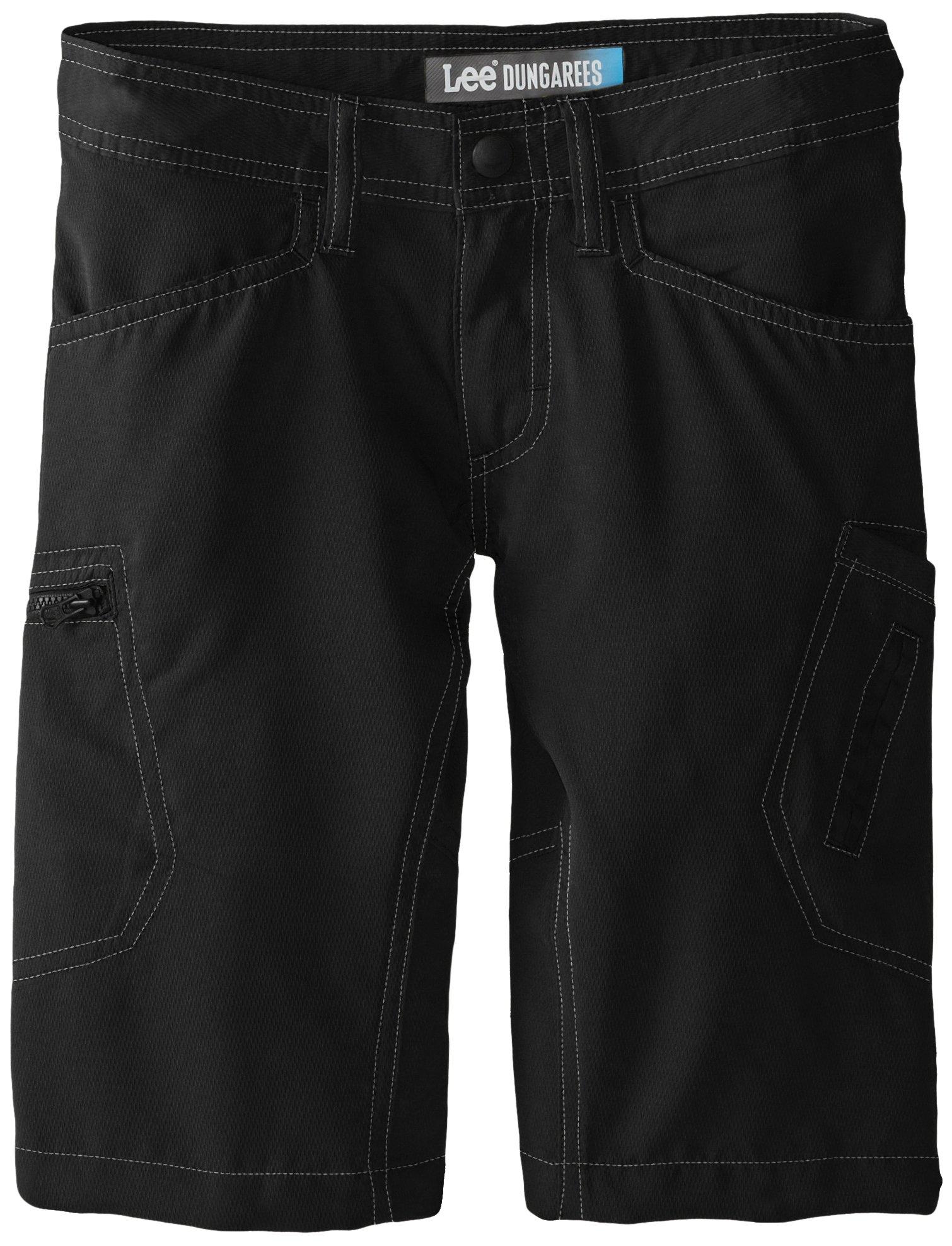 Lee Big Boys' Dungarees Grafton Cargo Short, Black, 10