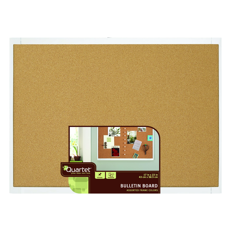 Amazon.com : Quartet Cork Bulletin Board, 17 x 23 Inches, White ...
