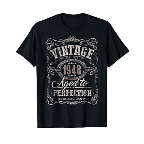 70th Birthday Gift Shirt Vintage Dude 1948 70 Year Old