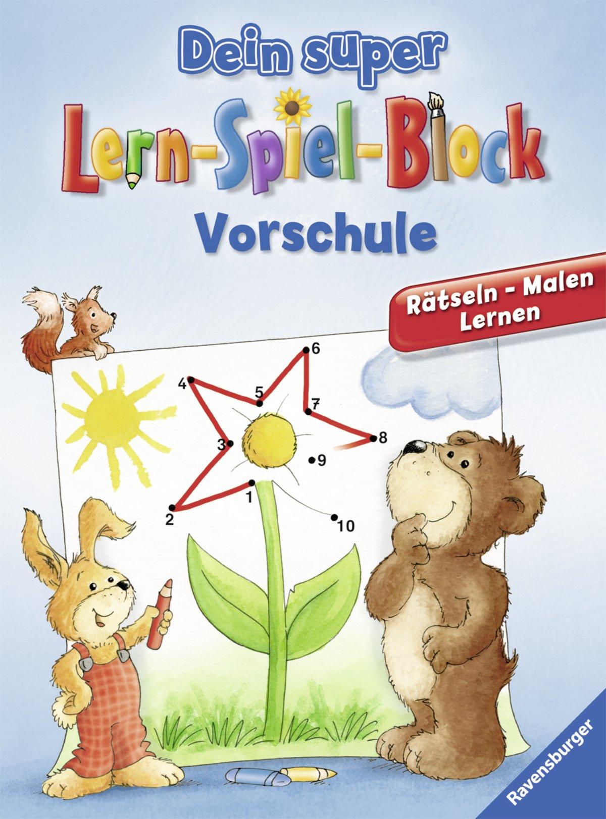 Dein super Lern-Spiel-Block Vorschule: Rätseln, Malen, Lernen ...