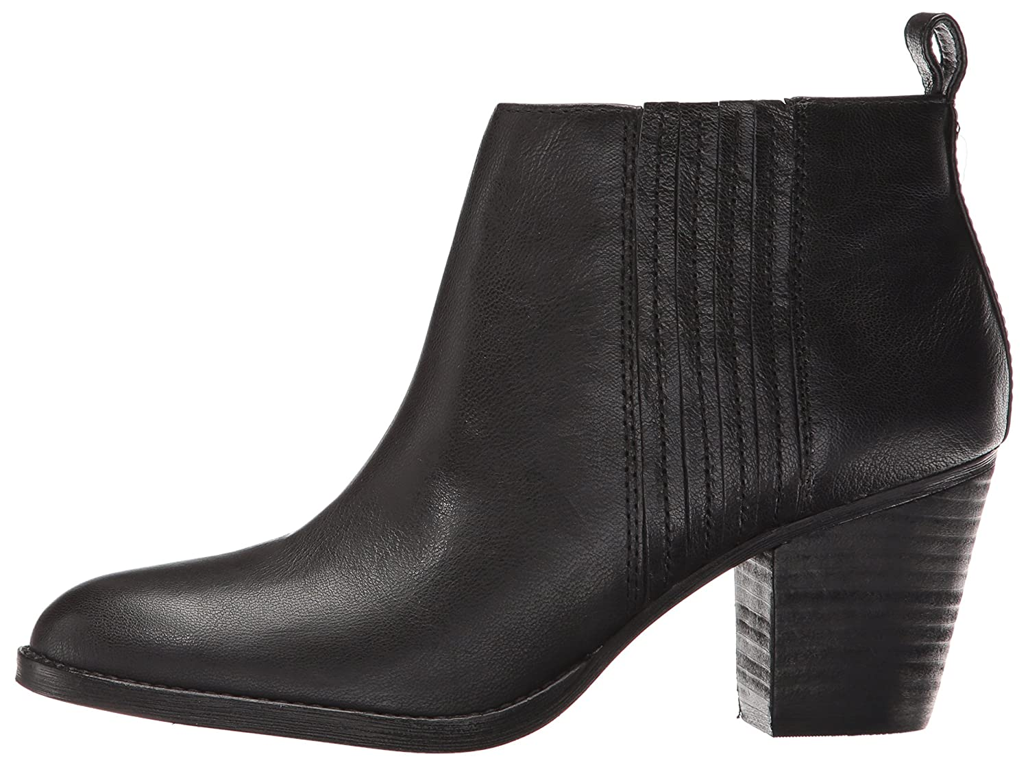 Nine B01EWYHKQQ West Women's Fiffi Ankle Bootie B01EWYHKQQ Nine 10.5 B(M) US|Black Leather be3fc7