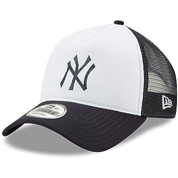 0a8b7224 New York Yankees New Era Trucker Hit A-Frame 9FORTY Adjustable Snapback Hat  White/Navy, Clothing - Amazon Canada