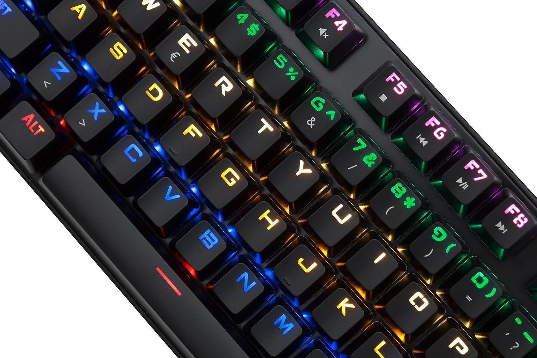 Mars Gaming - Pack Gaming de Teclado mecánico y ratón (Switch Rojo, iluminación 6 Colores, 8 perfiles, antighosting, 4000 dpi, Sensor óptico, ...
