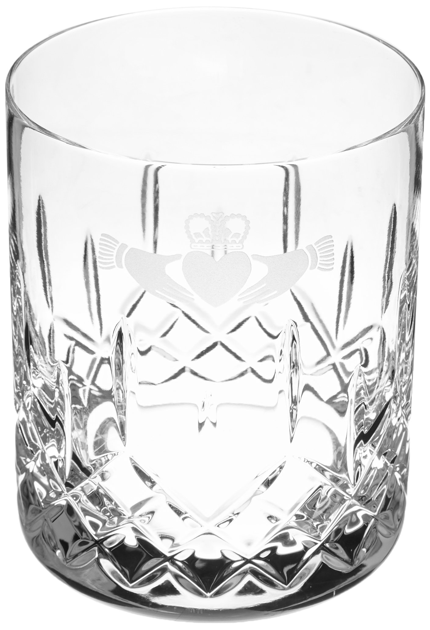 Galway Claddagh Large Double Old Fashioned Pair