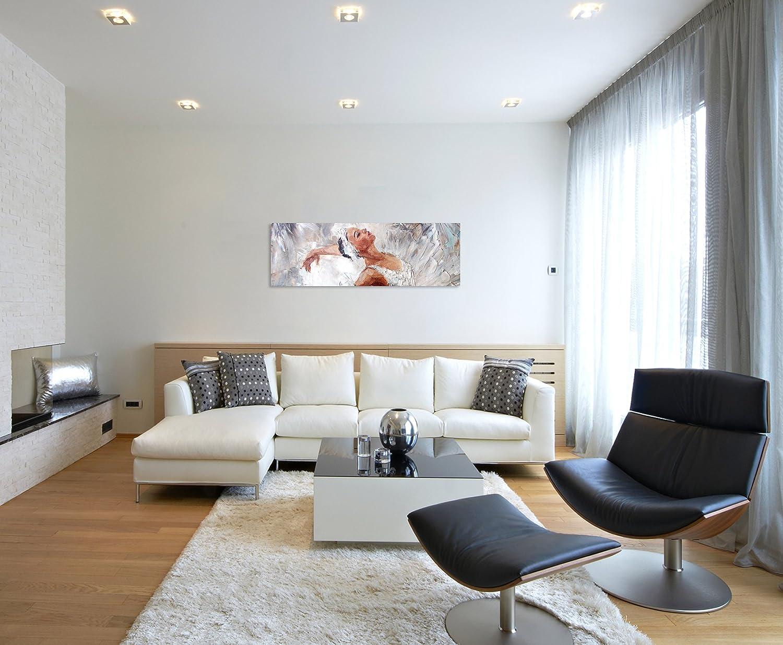 Sinus Art Wandbild 150x50cm Fotodruck aus Ölgemälde – Ballerina auf Leinwand für Wohnzimmer, Büro, Schlafzimmer, Ferienwohnung uvm Gestochen scharf in