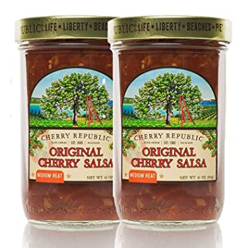 Cherry Republic Original Cherry Salsa - Medium Heat Salsa Mix with Authentic Michigan Cherries - Sweet