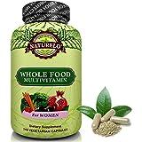 NATURELO Whole Food Multivitamin for Women - Natural Vitamins, Minerals, Antioxidants, Organic Extracts - Vegan/Vegetarian - Best for Energy, Brain, Heart, Eye Health - 240 Capsules
