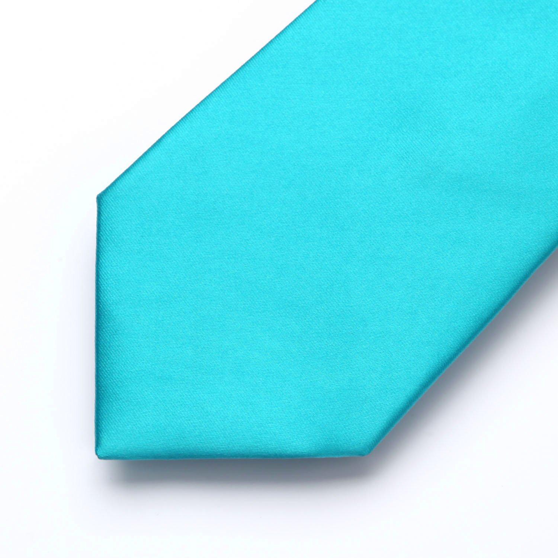 HISDERN Fazzoletto da uomo in tinta unita Fazzoletto da cerimonia nuziale Cravatta classica e tasca quadrata Set-Colori multipli