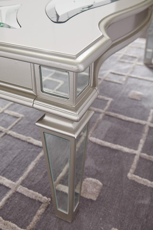 Ashley Furniture Signature Design – Tessani Contemporary Rectangular Cocktail Table – Silver